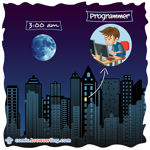 Programmers are the only people awake at 3am.