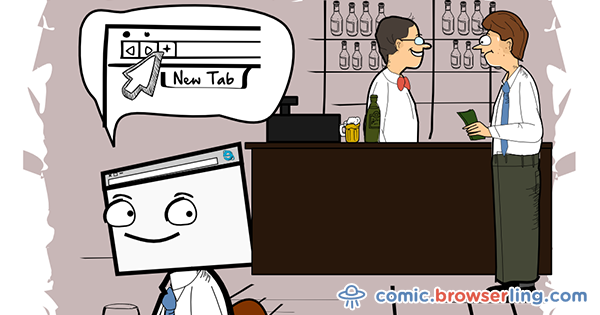 browserling.com - Bar - Webcomic about browsers, web designers and developers