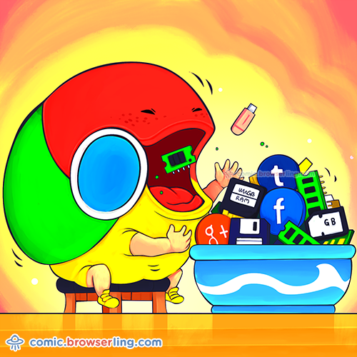 The hungriest browser.