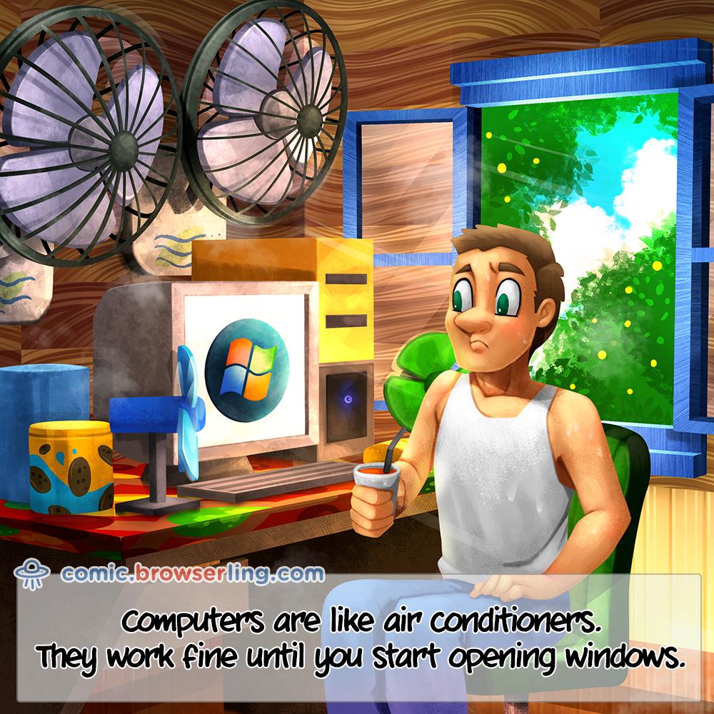 Air Conditioners Windows Comic