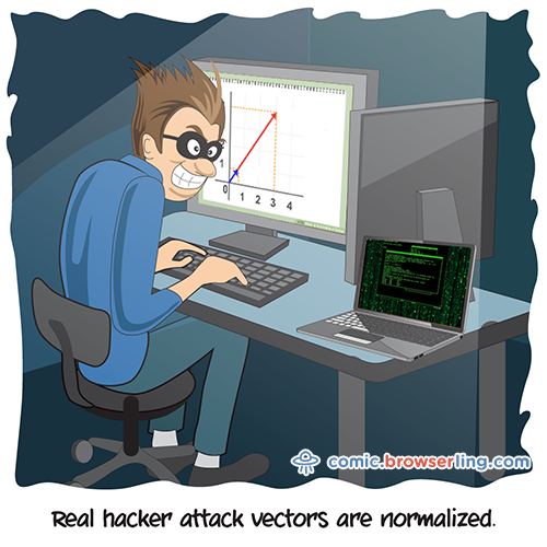 Real hacker's attack vectors are normalized.
