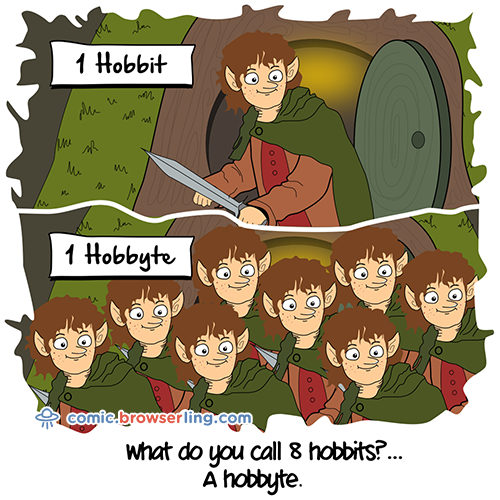 There are eight hobbits in a hobbyte.
