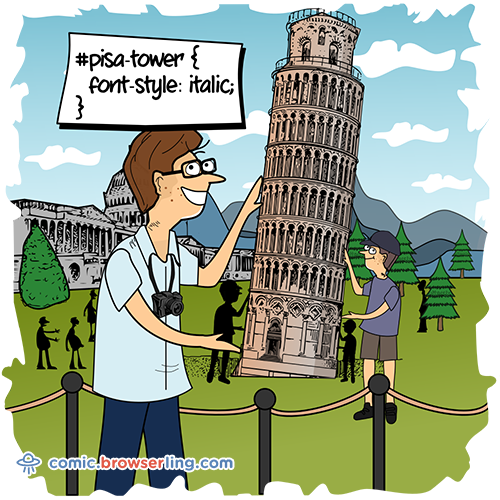 #pisa-tower { font-style: italic; }