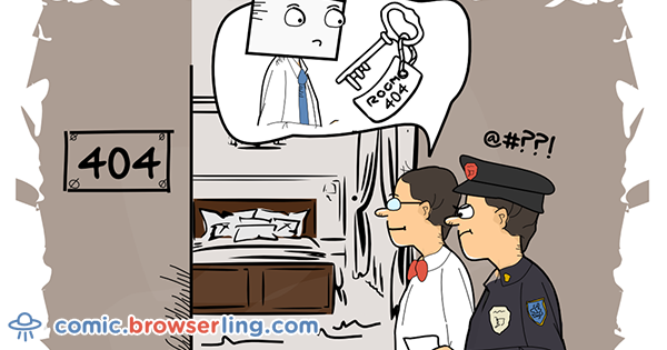 browserling.com - Hotel - Comic about web, web developers and browsers