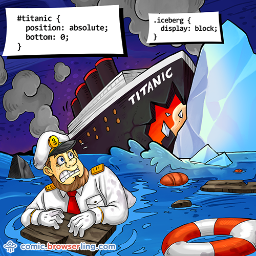#titanic { position: absolute; bottom: 0; } .iceberg { display: block; }.